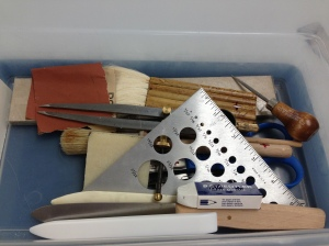My bookbinder's toolkit.